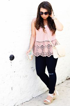 One of my favorite looks! This top is such a summer staple!!  Lauren Em Blog