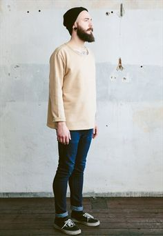 Vintage 80s Plain Sweatshirt #beard