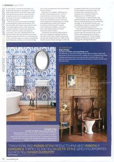 Classic bathroom design as a modern trend – as seen with our Bloomsbury collection in this month's @ekbbusiness #bathrooms #bagnodesign #bagno #design