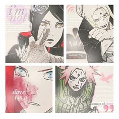 """Women of Naruto. Konan, Tsunade, Kushina and Sakura. """"I am not a wandering slave. I am a woman of choice."""" they really are not represented well in the show :/ Love the edit."""