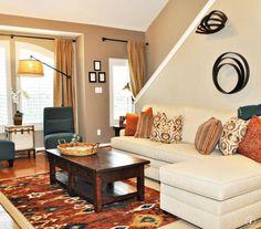 Sherwin Williams | Kilim Beige {lighter Wall} | Latte {darker Wall} · Living  Room ColorsLiving ...