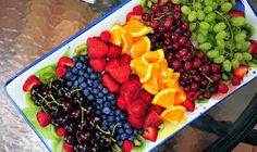 love this fruit platter... cute idea for a party