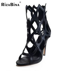 fee13ad8594 RizaBina Star Supermode Sexy Stiletto Gladiator Cut-outs High Heels Sandals  Women s Slimmer Heel Party