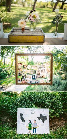 Creative, Handmade and Vintage-Inspired Fall Texas Wedding modern-rustic-diy-yellow-and-gray-texas-wedding-5 – WeddingWire: The Blog