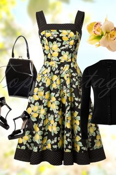 Bunny Leandra 50s Lemon Dress