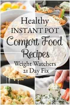 These healthy Instant Pot comfort food recipes are exactly what you need to start the New Year right! All Weight Watchers and 21 Day Fix friendly, too! Clean Eating Recipes, Healthy Eating, Cooking Recipes, Ww Recipes, Ninja Recipes, Water Recipes, Slow Cooking, Grilling Recipes, Crockpot Recipes