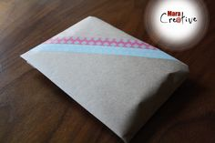 Personnalisation d'emballage en papier Kraft. DIY
