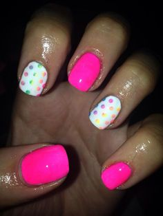 Rachel O'Connor uses #NeonNailShadows and #CNDShellac to create these beauties #nails