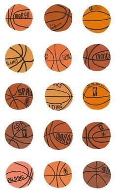 Paddle8: Untitled (Basketball Wallpaper) - Jonas Wood