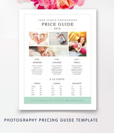 Price List Templates Price List Template For Photographers & Wedding Planners .