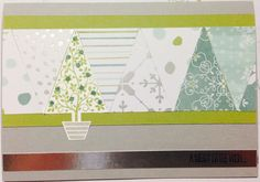 Stampin' Up! 'festival of trees' and 'all is calm' DSP