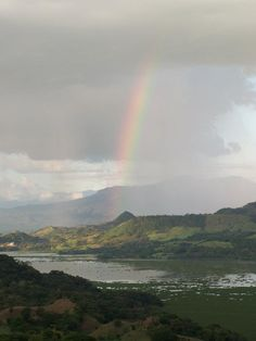 Rainbow ower Suchitlan Lake, quite a view when you stay at The Posada of Suchitlan, El Salvador. Photo by Ana Silva