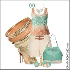 CHATA'S DAILY TIP: Colour and style tip: A stunning colour combination of peach and mint tones. The shoes are yum but if they are too high for you opt for tan or gold sandals which are equally yum. #mint #peach  COPY CREDIT: Chata Romano http://chataromano.com/consultant/chata-romano/ IMAGE CREDIT: What to wear today Facebook page.