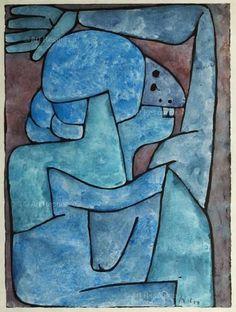 Paul Klee - Verfluchende Frau (Woman Who Curses), 1939