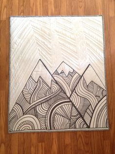 The Mountains are Calling Baby Quilt by Nooches on Etsy