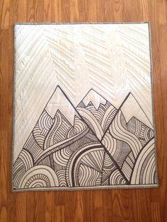 Les montagnes sont appeler bébé couette par Nooches sur Etsy
