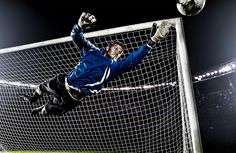 Soccer. Goalkeeper is like a lion. Don't enter in the fortress