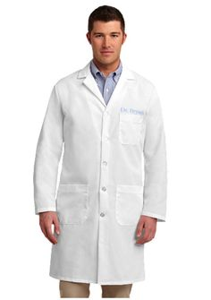 The Red Kap® Lab Coat has side vent openings to allow you access to your clothing. Available in White. Lab Jackets, Work Jackets, Dr Coats, White Lab Coat, Medical Uniforms, Custom Clothes, One Piece, Product Description, Medical Scrubs