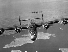 Consolidated B-24 Liberator  15th Air Force Liberators on the mission to Muhldorf,Germany on March 19,1945.