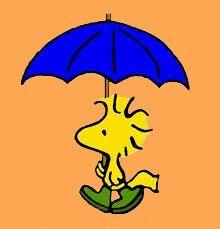 Woodstock... Rainy day Peanuts Cartoon, Peanuts Snoopy, Snoopy Love, Snoopy And Woodstock, Snoopy Images, Joe Cool, Favorite Cartoon Character, Charlie Brown And Snoopy, Dancing In The Rain