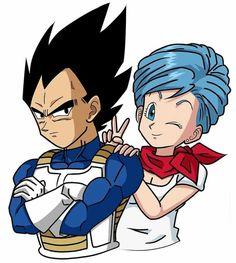 Bulma and Vegeta Dragon Ball Z, Dbz Vegeta, Dbz Characters, Hero Movie, Dragon Pictures, Dc Heroes, Awesome Anime, Anime Couples, Fan Art