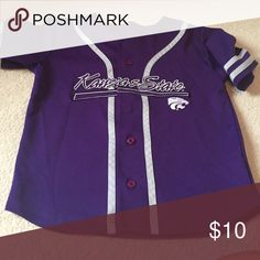 K-State baseball top One button is missing SG Starter Shirts & Tops