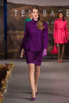 Ted Baker #AW13: purple SOLLEL peplum coat. #catwalk #TedBaker