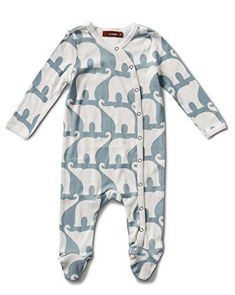 Milkbarn Organic Cotton Long Sleeve Footed Romper