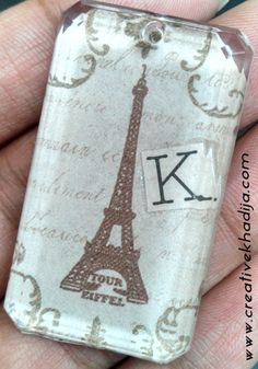 Eiffel tower pendant DIY