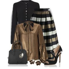 How To Wear Black and Brown (Outfit Only) Outfit Idea 2017 - Fashion Trends Ready To Wear For Plus Size, Curvy Women Over 20, 30, 40, 50