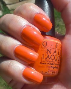 OPI Atomic Orange     I got this on my toes today.