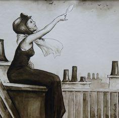 Alexandre LAMOTTE nanquim sobre papel