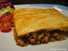 Empanada de Carne, Pimientos y Champiñones