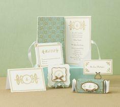 Mint wedding invitation
