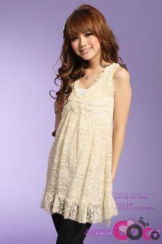 http://www.coco-fashion.com/White-Sleeveless-Cute-Girlish-Style-V-Neck-Korean-Fashion-Lace-Tunic-p18196.html