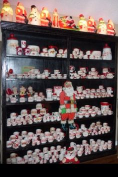Santa mug collection 1950's