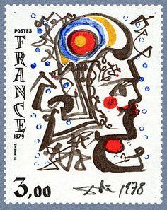 Zoom sur le timbre «Œuvre originale de Salvador Dali »