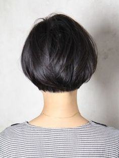 Back shot of a slightly stacked bob. I need to bring this next time I go to the…