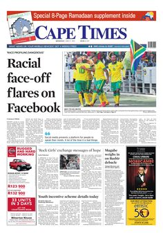 News making headlines: Racial face-off flares on Facebook.