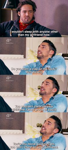 Except spencer DOES in fact cheat on his girlfriend. Repeatedly. Wise choice to not use him as a moral compass Hugo. Made in Chelsea