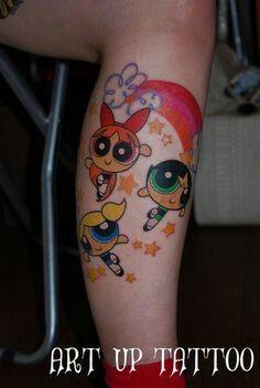 Power Puff Tattoo