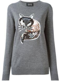 Markus Lupfer sequin-fox detail sweater
