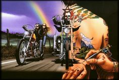 Welcome to David Mann's Official Motorcycle Art Website!