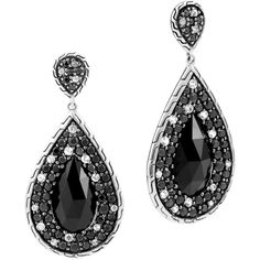 John Hardy Classic Chain Small Black Sapphire Drop Earrings