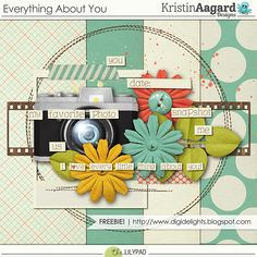Quality DigiScrap Freebies: Everything About You mini kit freebie from Kristin Aagard Designs