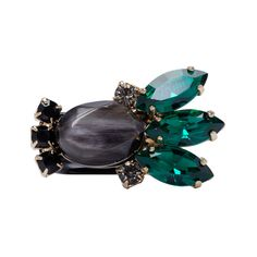Marni Black Resin and Horn Ring ($350) ❤ liked on Polyvore featuring jewelry, rings, horn ring, marni, resin rings, wide-band rings and kohl jewelry