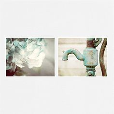 Teal Print Set Bathroom Decor Bathroom Art Set Mint Aqua