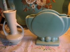 vintage pottery! I love the dusty muted colors.