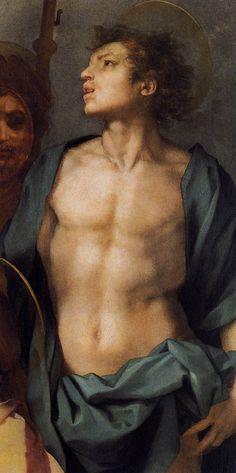 Andrea del Sarto - Pala di Gambassi, dettagli - 1528 circa - Musei di Palazzo Pitti, Galleria Palatina, Firenze