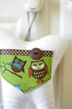personalized tooth fairy pillow - back side